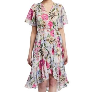 NWT Calvin Klein floral wrap dress